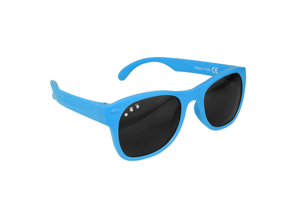 Blue W/ Green-Blue Mirrored Junior Shades
