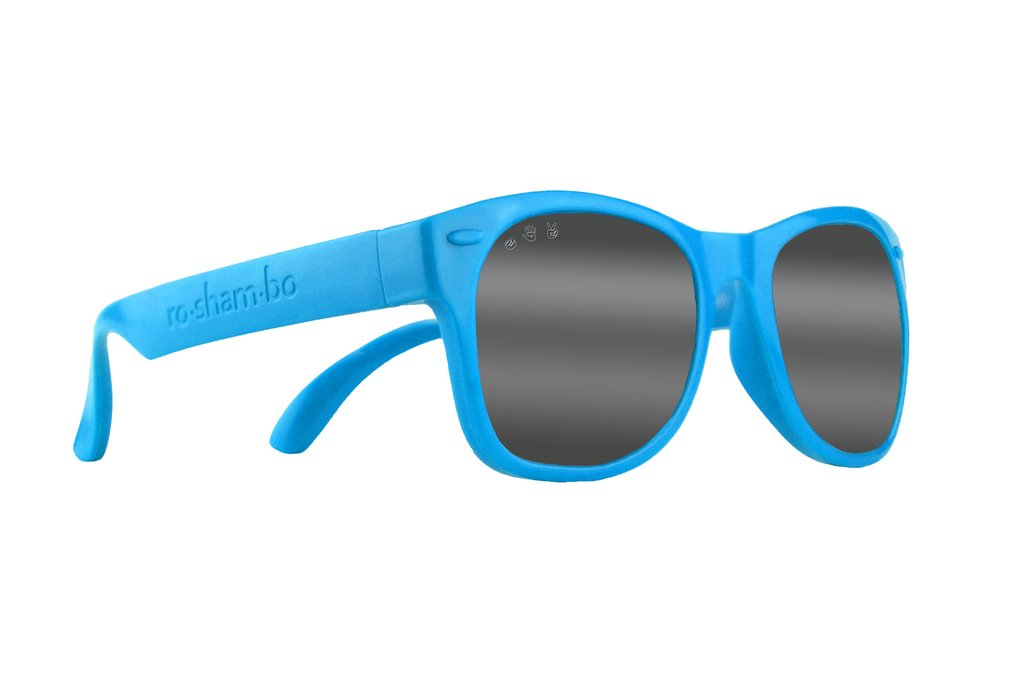 Blue Chrome Mirrored Baby Shades