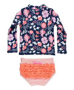 Botanical Beach Long Sleeve 2pc Suit
