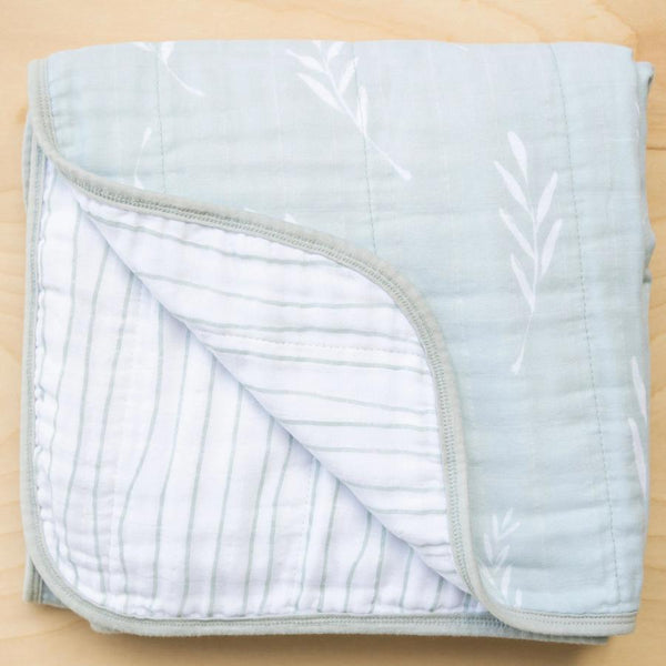 Olive Branch Cotton 4-Layer Muslin Quilt