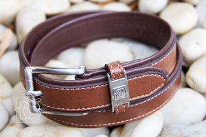 Brown/Light Brown Double Leather Belt