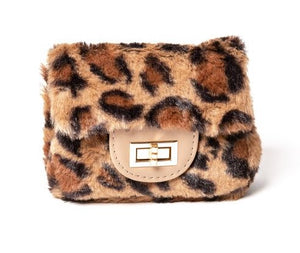 Leopard Faux Fur Purse