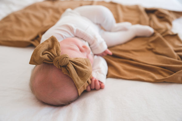 Camel Knit Headband Bow