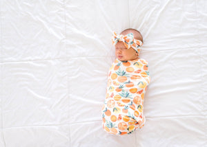Citrus Knit Swaddle Blanket