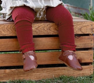 Cranberry Footless Ruffle Tights