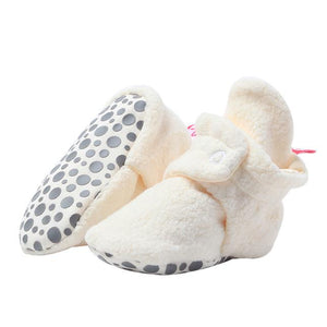 Cream Fleece Gripper Bootie