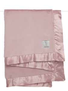 Dusty Pink Luxe Baby Blanket