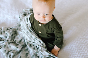 Evergreen Knit Swaddle Blanket