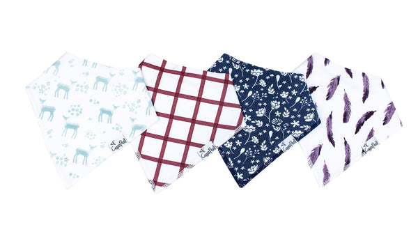 Fawn Bandana Bib Set (4 pack)