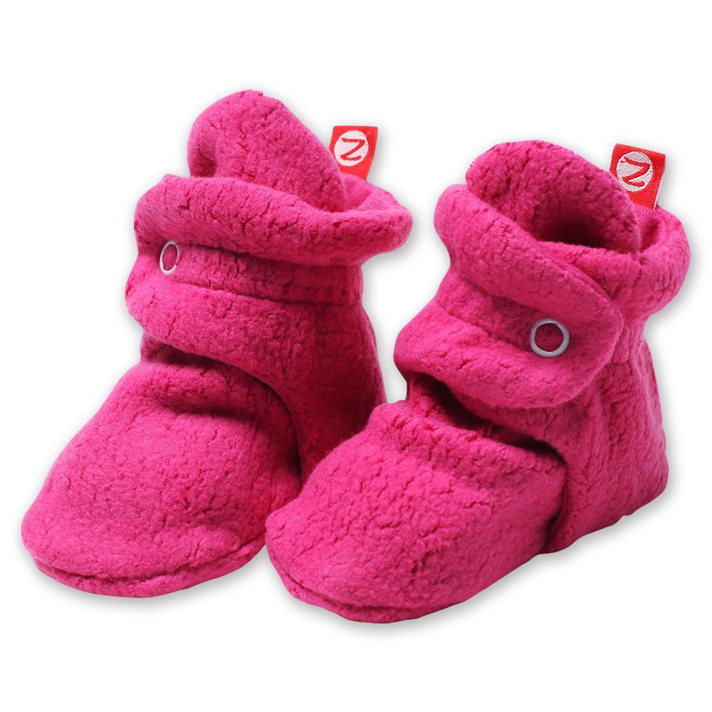 Fuchsia Fleece Booties