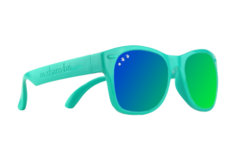Mint W/ Green/Blue Mirrored Toddler Shades
