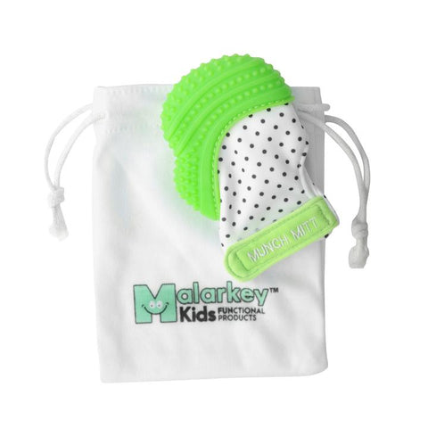 Green Polka Dot Munch Mitt