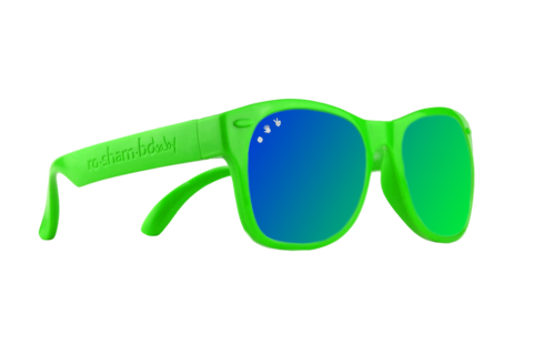 Green W/ Green/Blue Mirrored Baby Shades