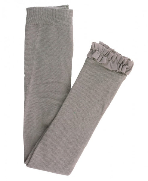 Grey Footless Ruffle Tight