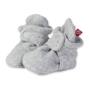 Heather Grey Fleece Booties