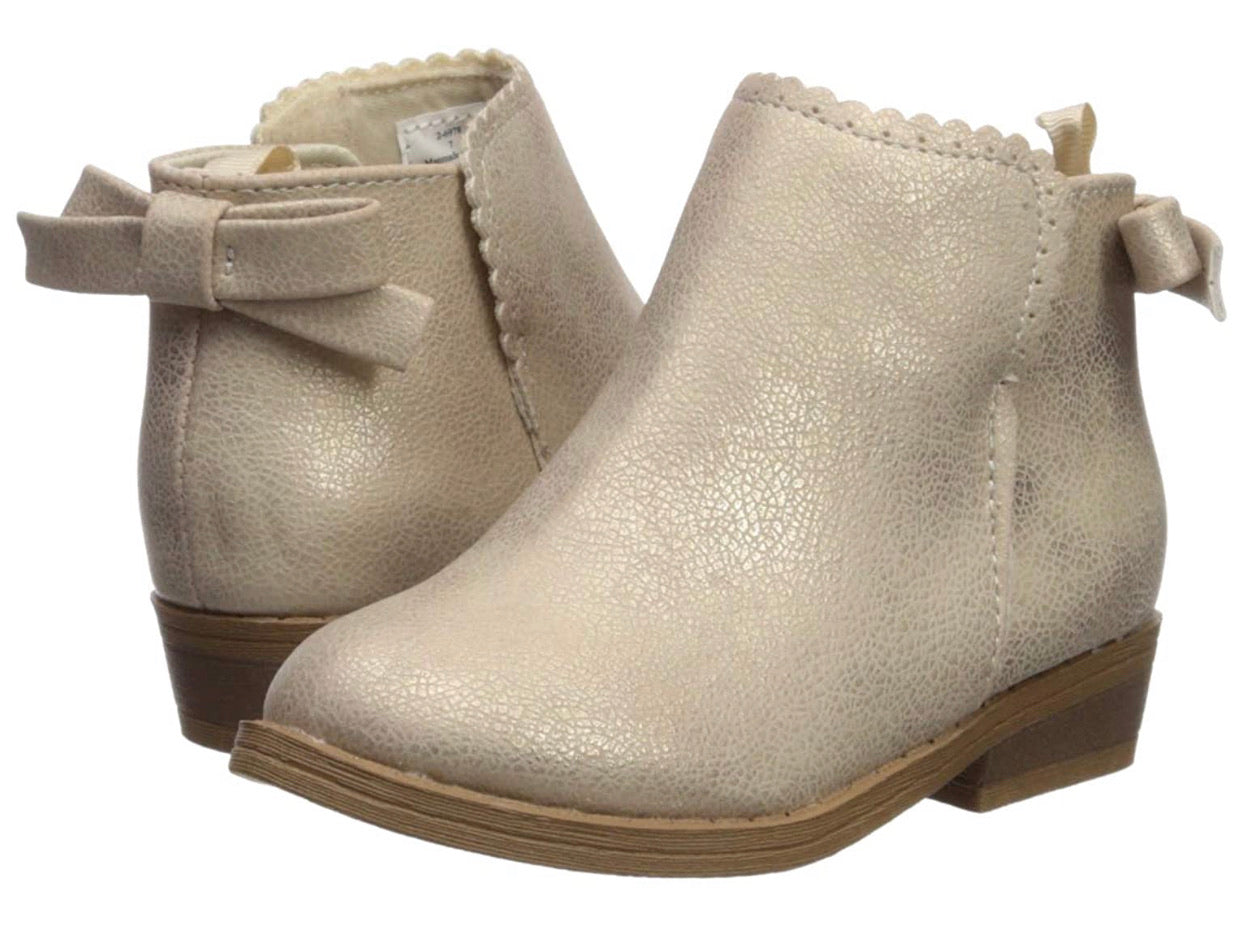 Champagne Shimmer Ankle Boot