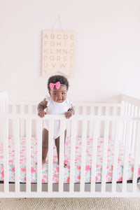 June Knit Fitted Crib Sheet
