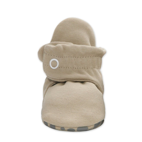 Khaki Cotton Gripper Bootie