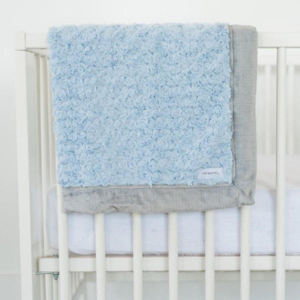 Light Blue Swirl/Grey Lush Blanket