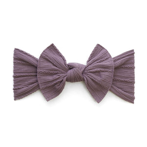 Lilac Cable Knit Knot