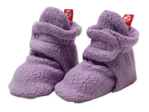 Lilac Fleece Booties