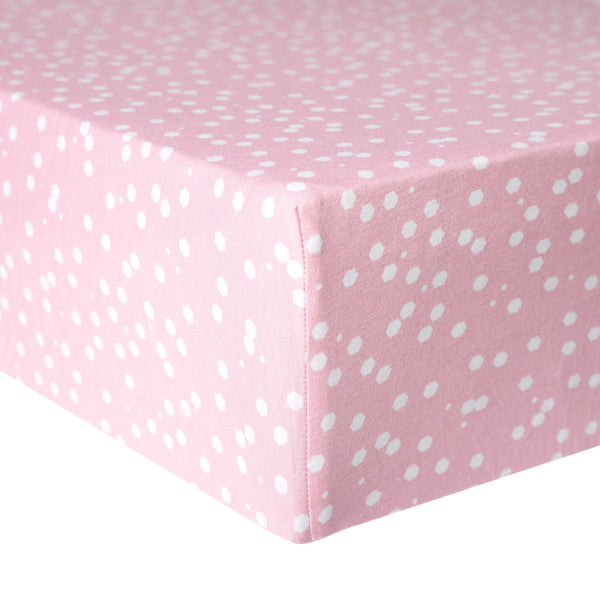 Lucy Knit Fitted Crib Sheet
