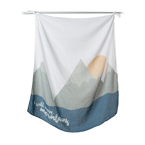 I Will Move Mountains First Year Blanket