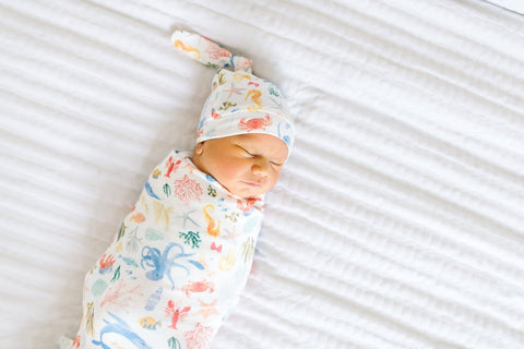 Nautical Knit Swaddle Blanket