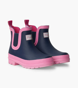 Navy Ankle Rain Boots