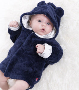 Minky Navy Fleece Magnetic Jacket