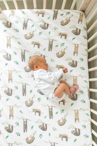 Noah Knit Fitted Crib Sheet