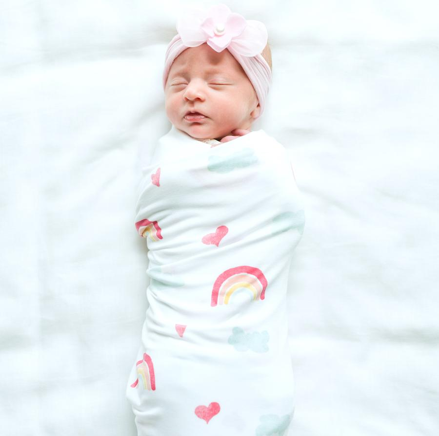 Over The Rainbow Stretchy Swaddle