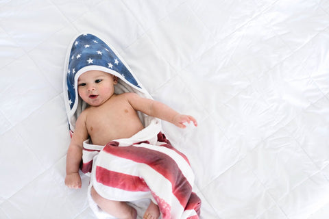 Patriot Knit Hooded Towel