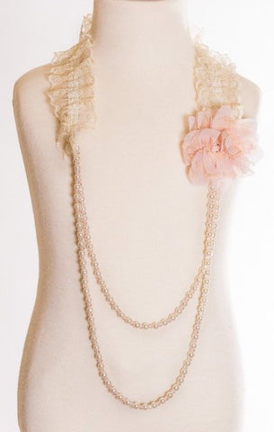 Peach Flower Necklace