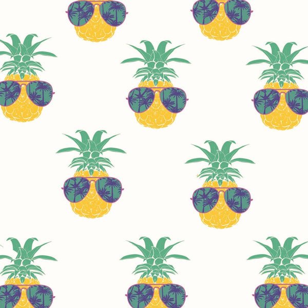 Pineapple Faces Hooded UPF 50+ Sunscreen Towel