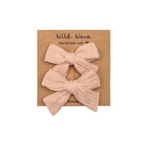 Pink Bow Clip Set