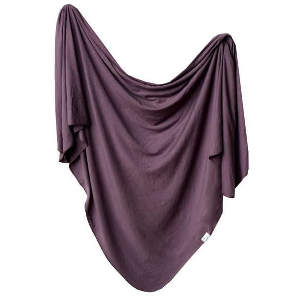 Plum Knit Swaddle Blanket