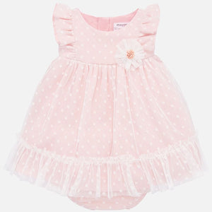 Pink Dot Tulle Dress Set