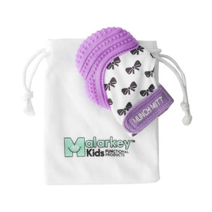 Purple Bows Munch Mitt