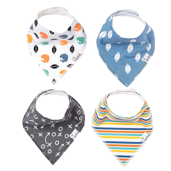 Quarterback Bandana Bib Set (4-pack)