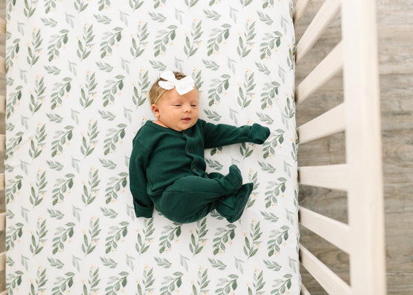Fern Knit Fitted Crib Sheet