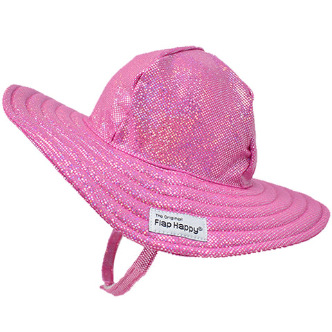 Pink Sparkle Floppy Swim Hat