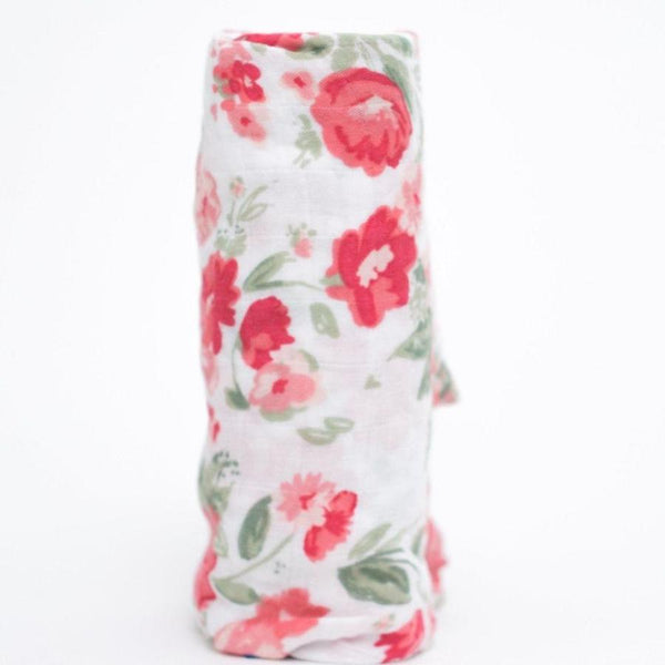 Spiced Blossom Bamboo Muslin Swaddle