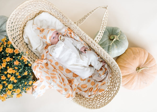Patch Knit Swaddle Blanket