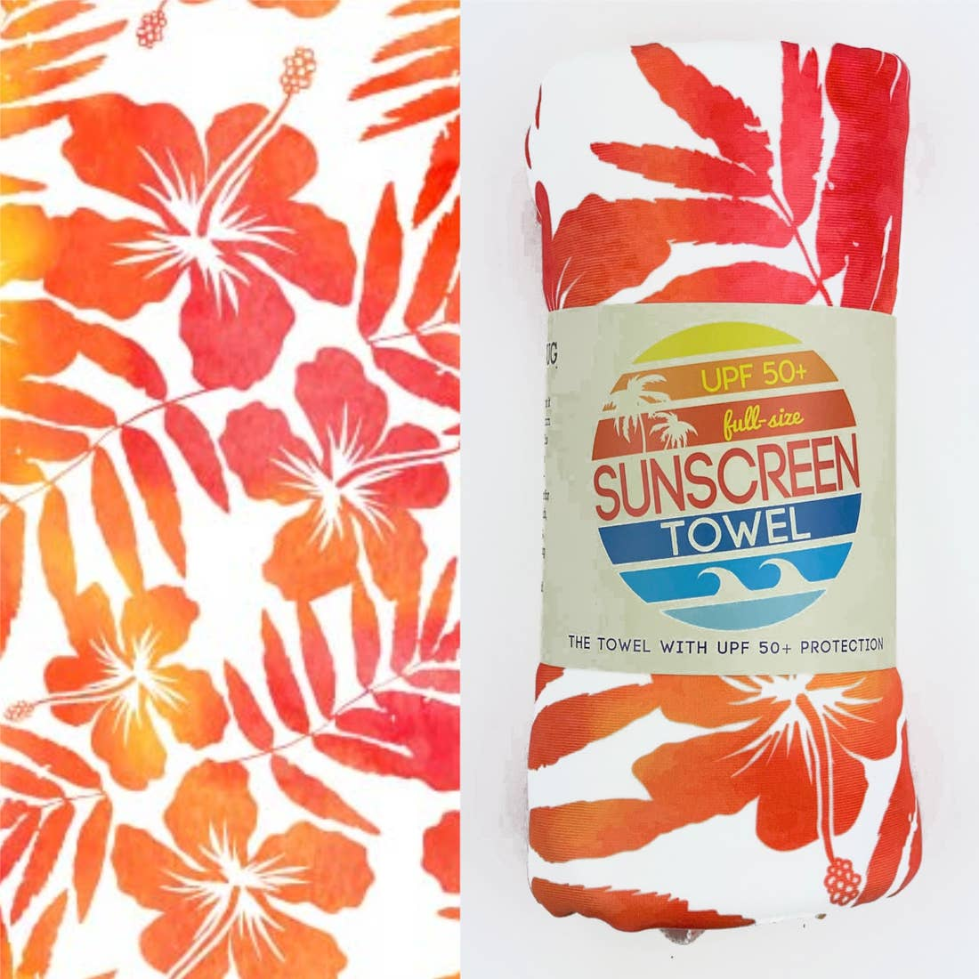 Tropical Breeze Hooded UPF 50+ Sunscreen Towel