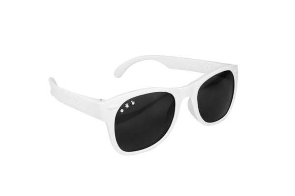 White W/ Purple Mirrored Baby Shades