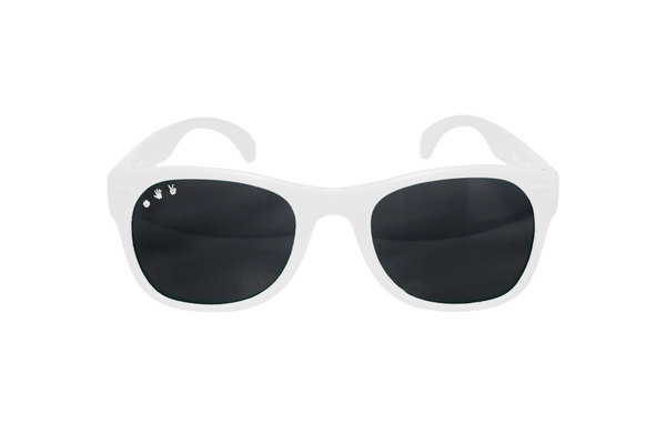 White W/ Purple Mirrored Toddler Shades