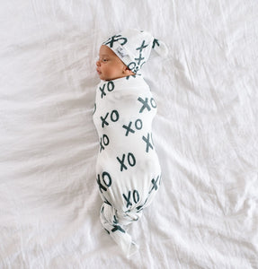 XOXO Knit Swaddle Blanket