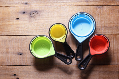 Measuring cups are great collapsible accessories.
