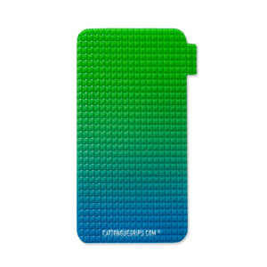 Cell phone grip with blue and green for great grip!